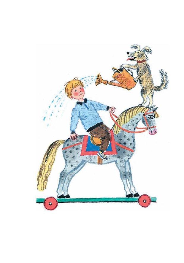 картинка к небылице ехал ваня на коне уютный горнолыжный