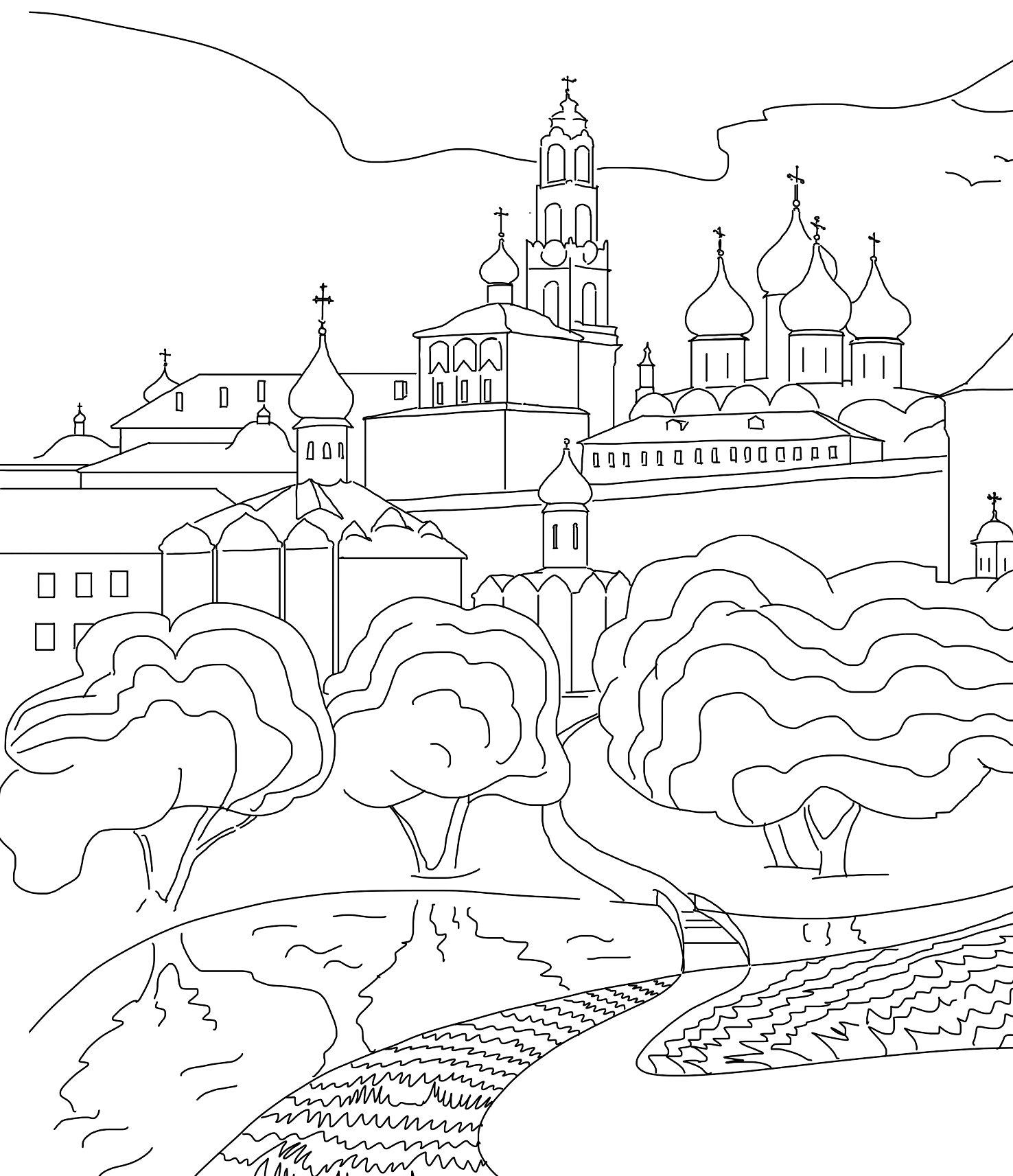 Картинка к дню россии раскраска, картинки