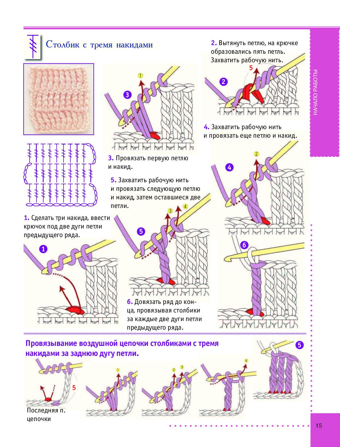 1001 рисунок вязание крючком