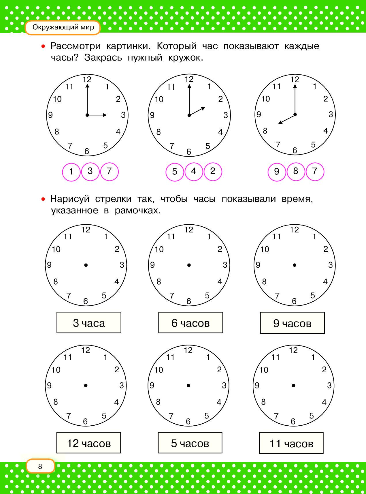 Определение времени по часам картинки